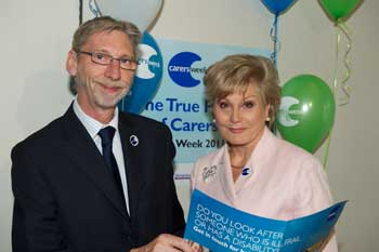 George and Angela Rippon discussing carers week